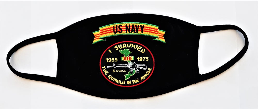 Image of Vietnam Veteran US Navy I Survived The Rumble In The Jungle Face Mask