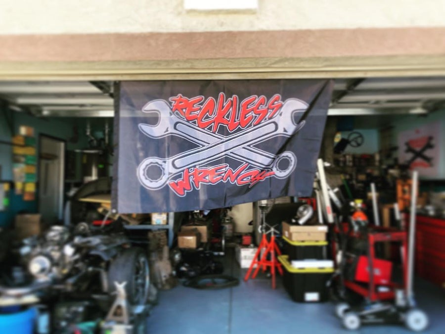 Image of Large Reckless Wrench Flag