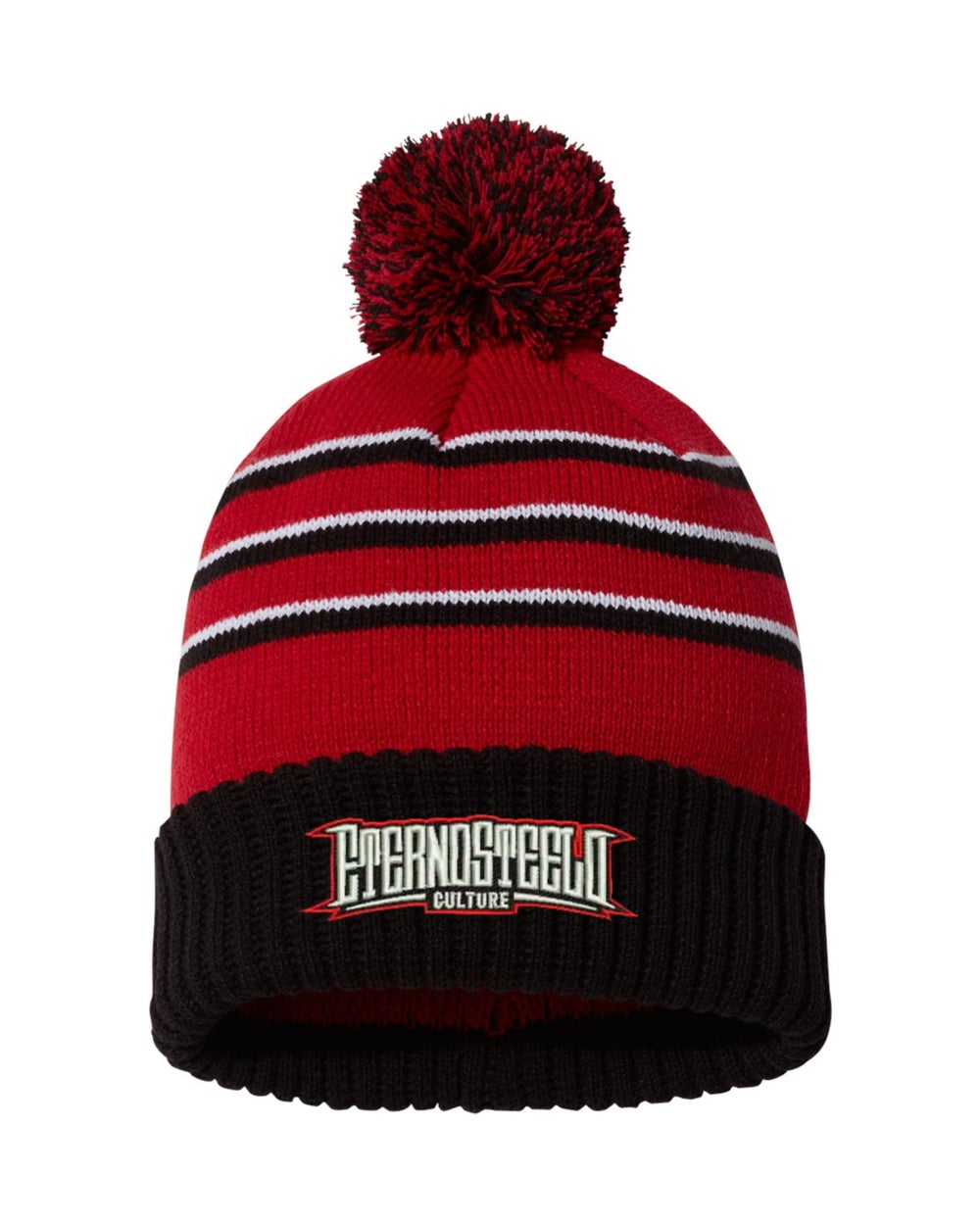"Image of Red & Black ""Bossman"" heavyweight beanie"