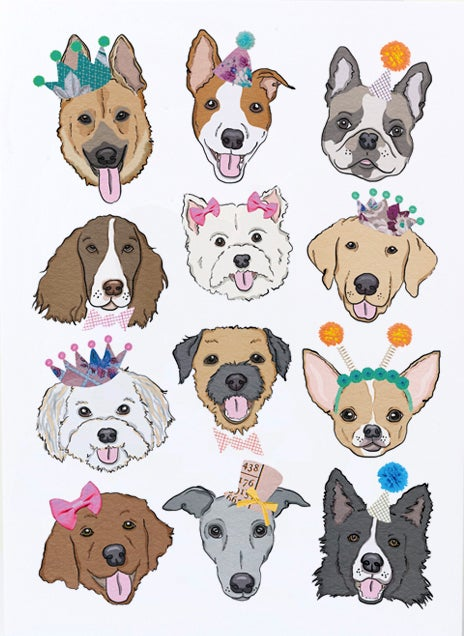 Image of Party Dogs Card