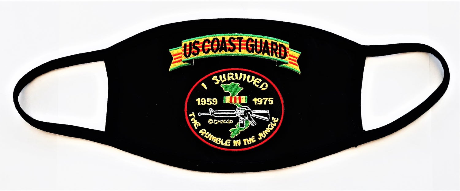 Image of Vietnam Veteran US Coast Guard I Survived The Rumble In The Jungle Face Mask