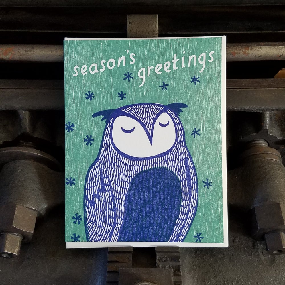 Image of Owl Holiday Greetings Set