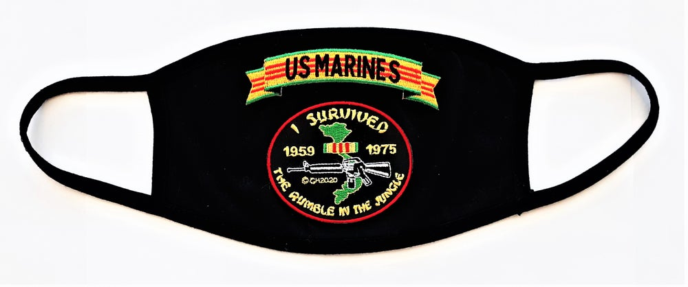 Image of Vietnam Veteran US Marines I Survived The Rumble In The Jungle Face Mask