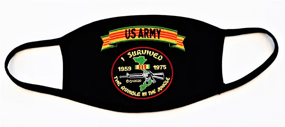 Image of Vietnam Veteran US Army I Survived The Rumble In The Jungle Face Mask