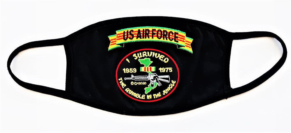 Image of Vietnam Veteran US Air Force I survived The Rumble In The Jungle Face Mask