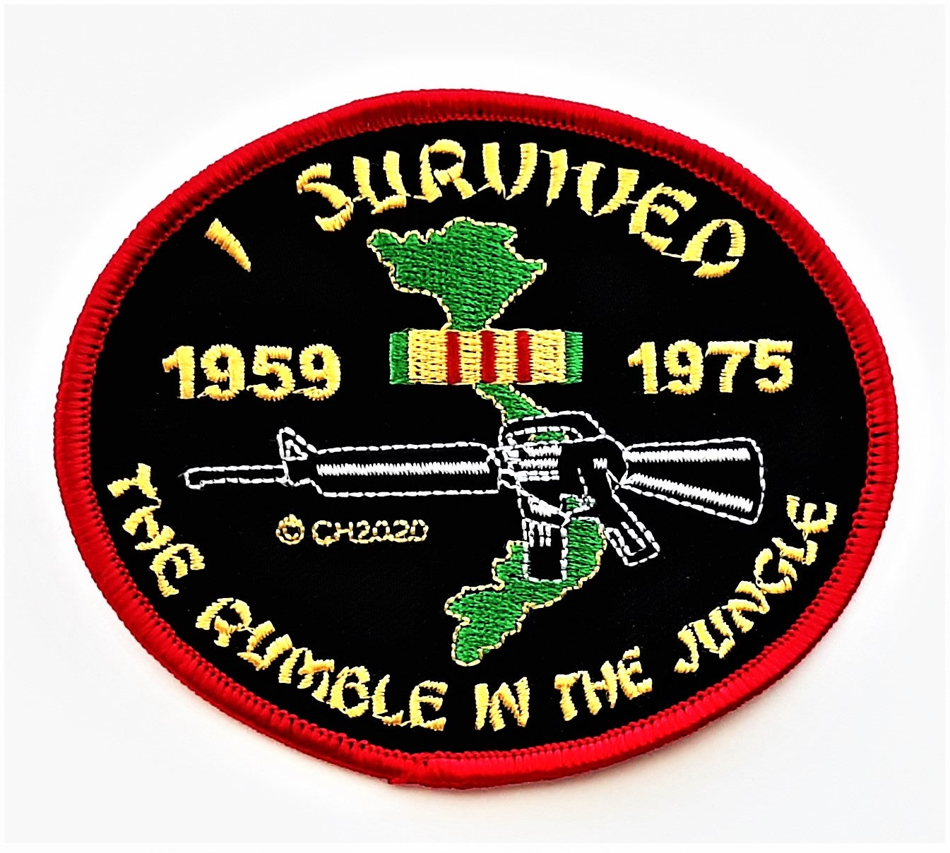 """Image of I Survived The Rumble In The Jungle 4"""" Patch"""