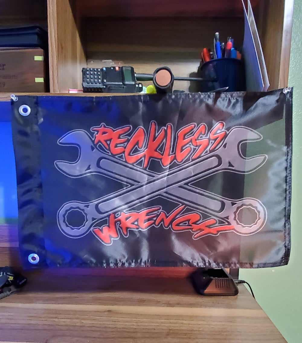 Image of Small Reckless Wrench Flag