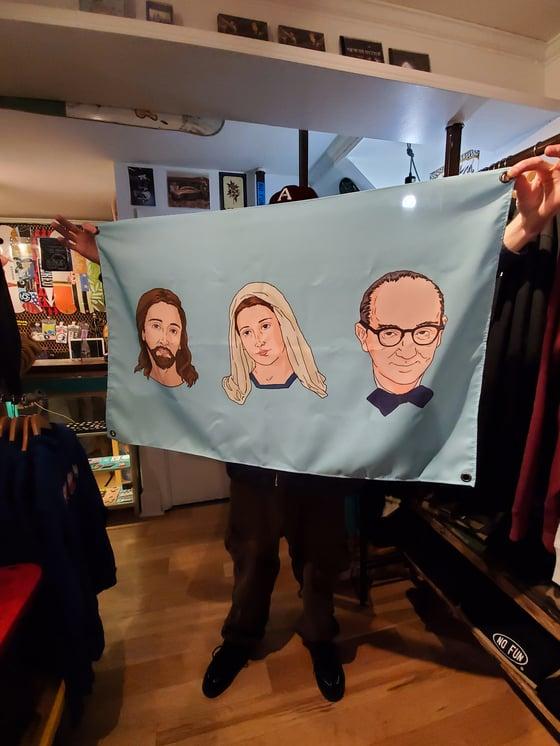 Image of Jesus, Mary & Joseph Flag