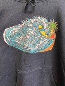 Image 2 of Homeward tattoo wave unisex pullover hoodie