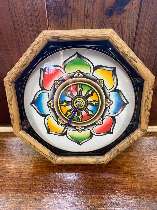 Image of Dharma Wheel custom clock by Ed Bell