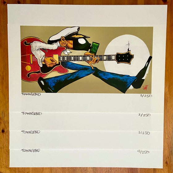 Image of FREE SHIPPING- WTF CHUCK- 8x16 GICLEE PRINT on 13x19 WATERCOLOR PAPER