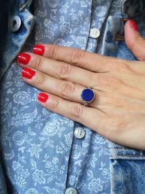 Image of Bague lapis lazuli taille 52 - ref. 6447