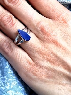 Image of Bague lapis lazuli taille 52 - ref. 6444