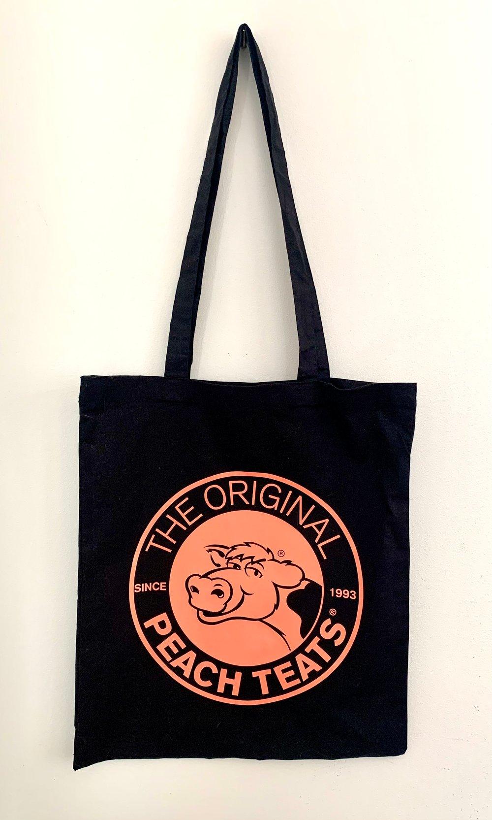 Image of Black/Peach Tote Bag