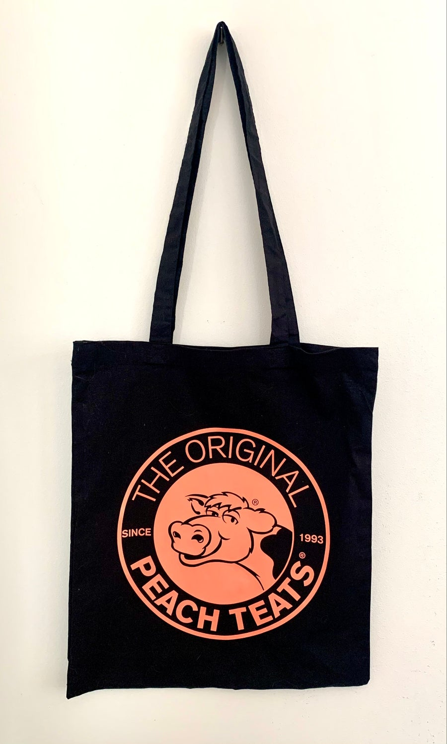 Image of Black/Peach Tote Bag