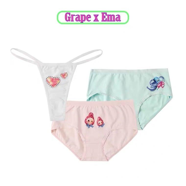 Image of GRAPE * Ema Gaspar   Printed underwear set /three color