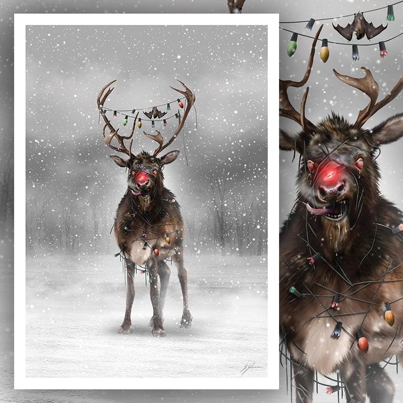 """Rabid Rudolph 12"""" X 17"""" Print"""
