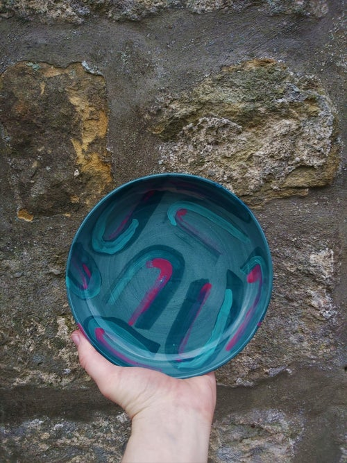 Image of Green Patterned Dish