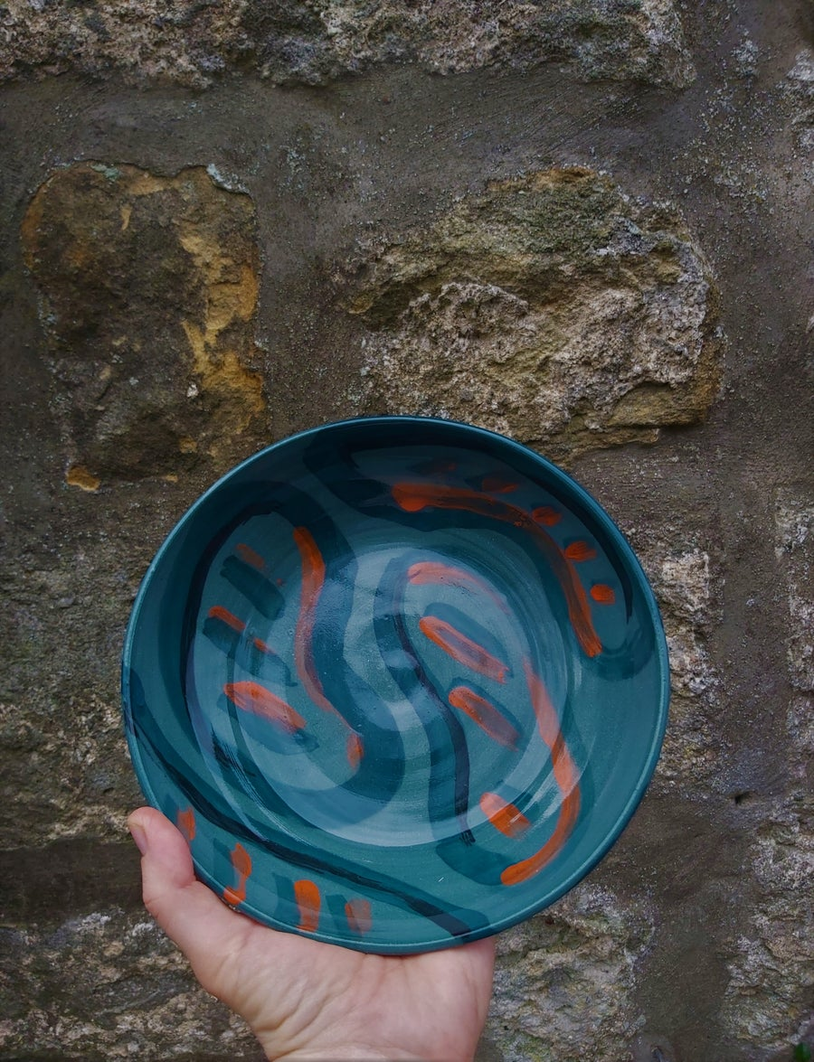 Image of Pre order: Green Patterned Dish