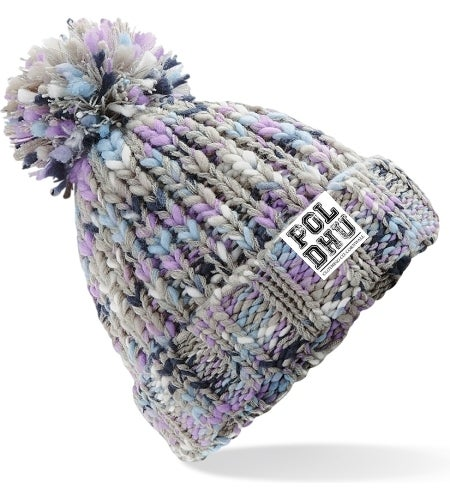 TWISTER BOBBLE HAT - LAVENDER