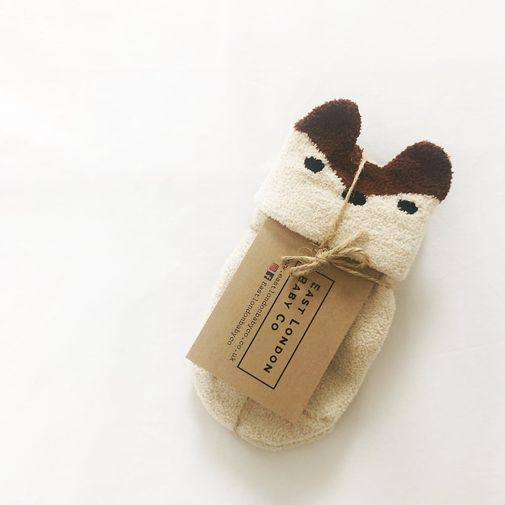 Image of Fleecy Fawn socks