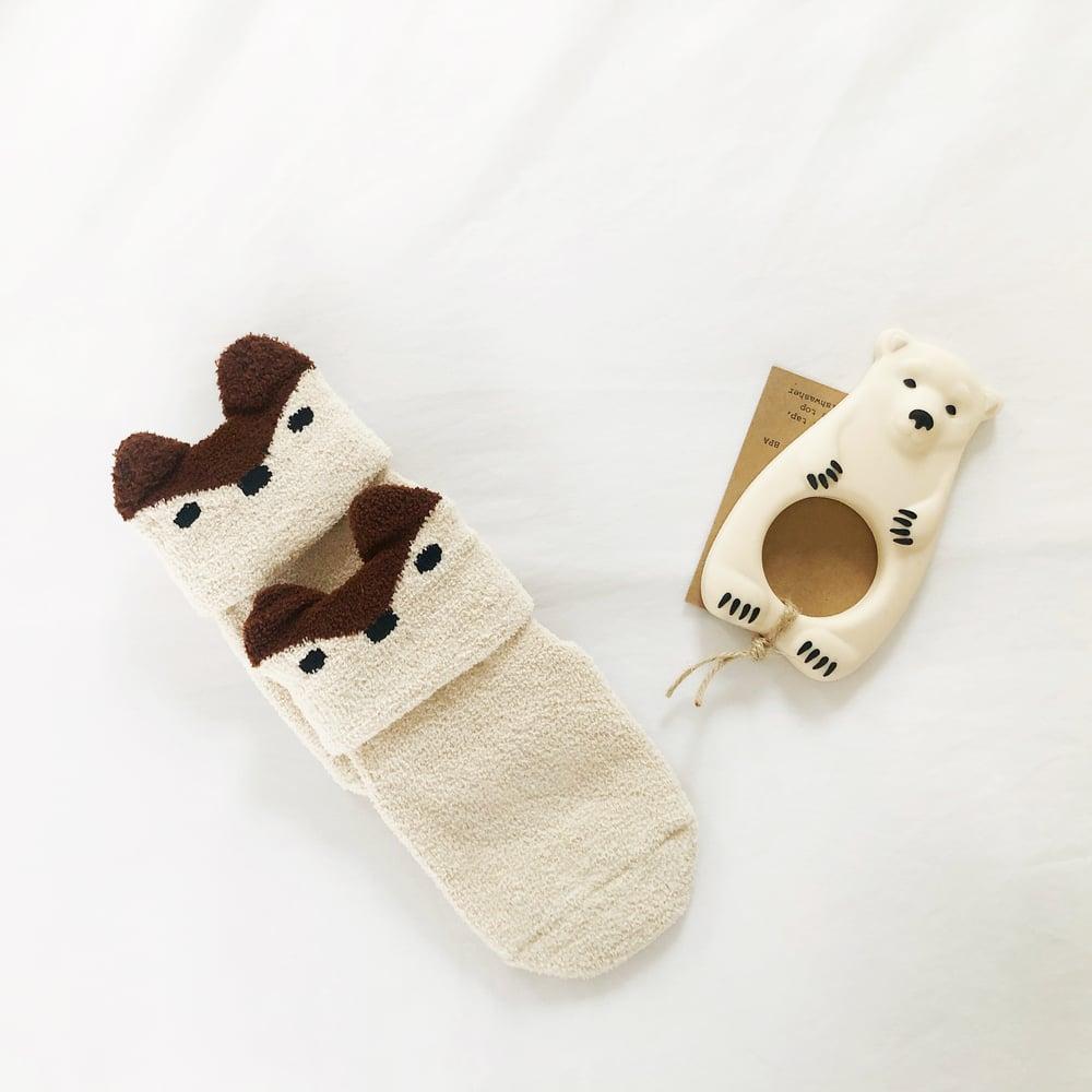 Image of Fleecy Fawn socks