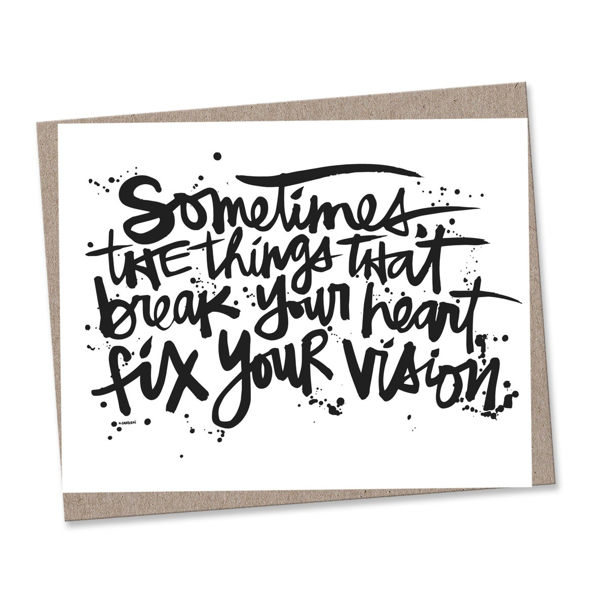 Image of FIX YOUR VISION #kbscript print