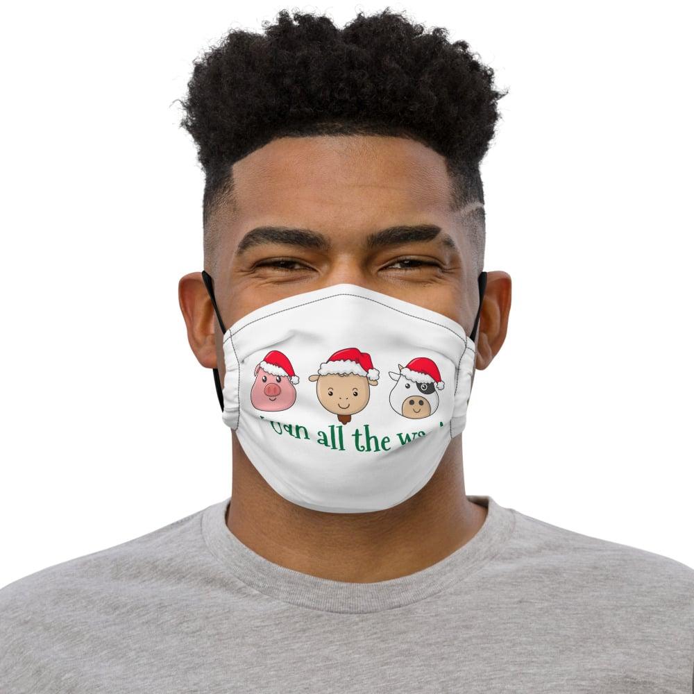 Image of Premium holiday vegan face mask-Vegan all the way!