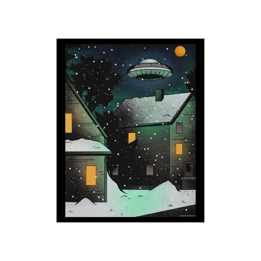 Image of Ufo in the Snow 8 x 10 print