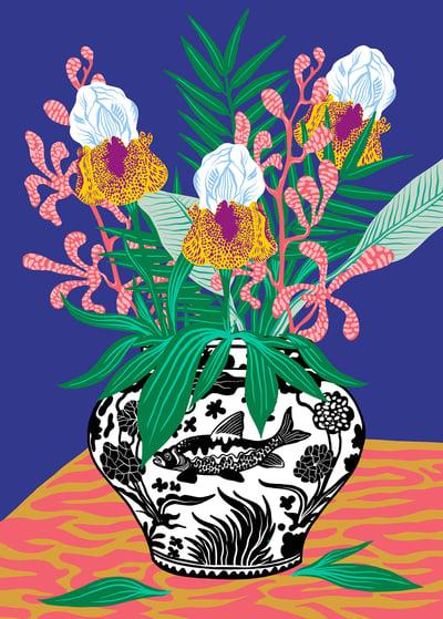 Image of Flower Vase Print 2