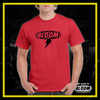 T-Shirt Fulmine Rossa logo Nero UOMO