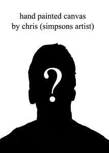 Image of custom hand painted canvas portrait by chris (simpsons artist)