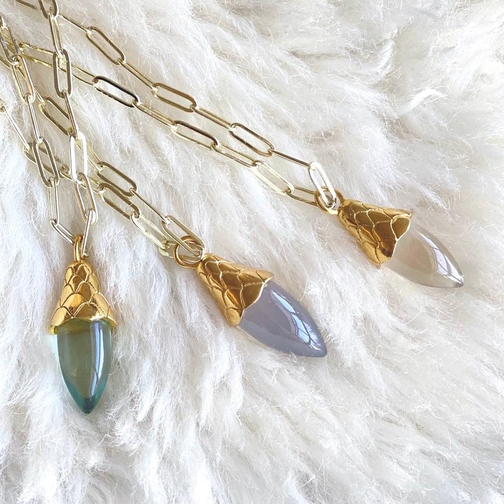 Image of Acorn Quartz Drop Necklace