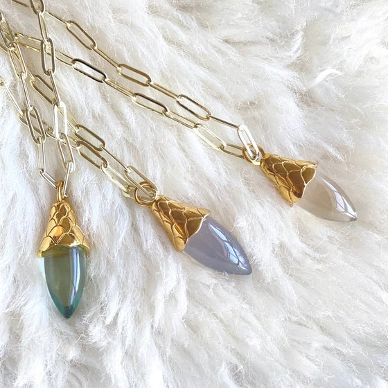 Image of Acorn Quartz Drop Necklace