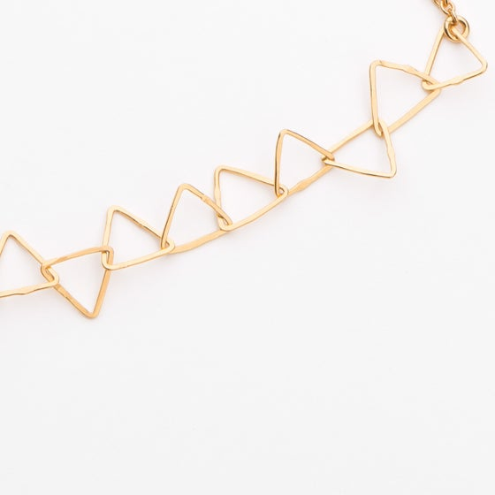 Image of Collier dentelle de triangles