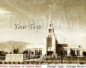 Image of Gila Valley Arizona LDS Mormon Temple Art 001 - Personalized LDS Temple Art