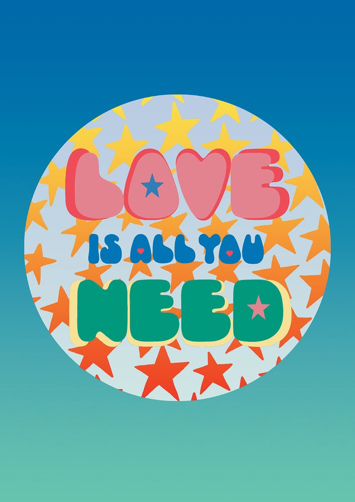 Image of Cards - pack of 6 - LOVE IS ALL YOU NEED
