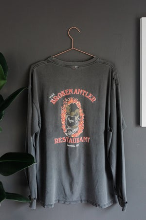 Image of Early 90's Broken Antler Restaurant Motorcycle Long Sleeve