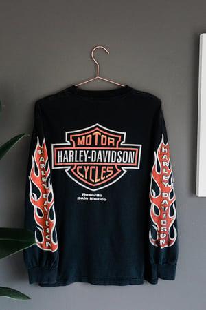 Image of Early 90's Harley Davidson - Baja Mexico Flame Long Sleeve