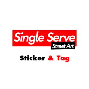 Image of Single Serve Street Art Kit - Sticker & Tag