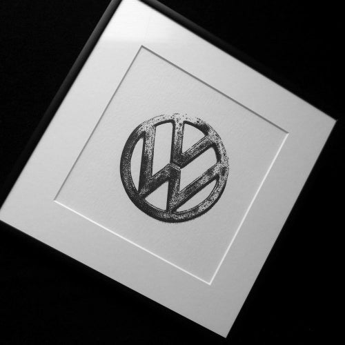 Image of Letterpress prints - VW badge