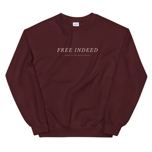 Image of Free Indeed Crewneck - Maroon