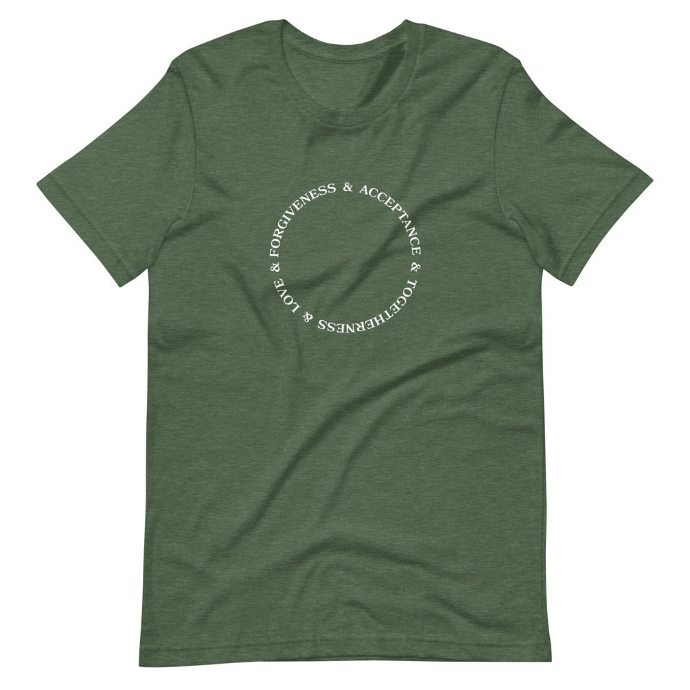 Image of Forgiveness, Acceptance, Togetherness, and Love tee - Green