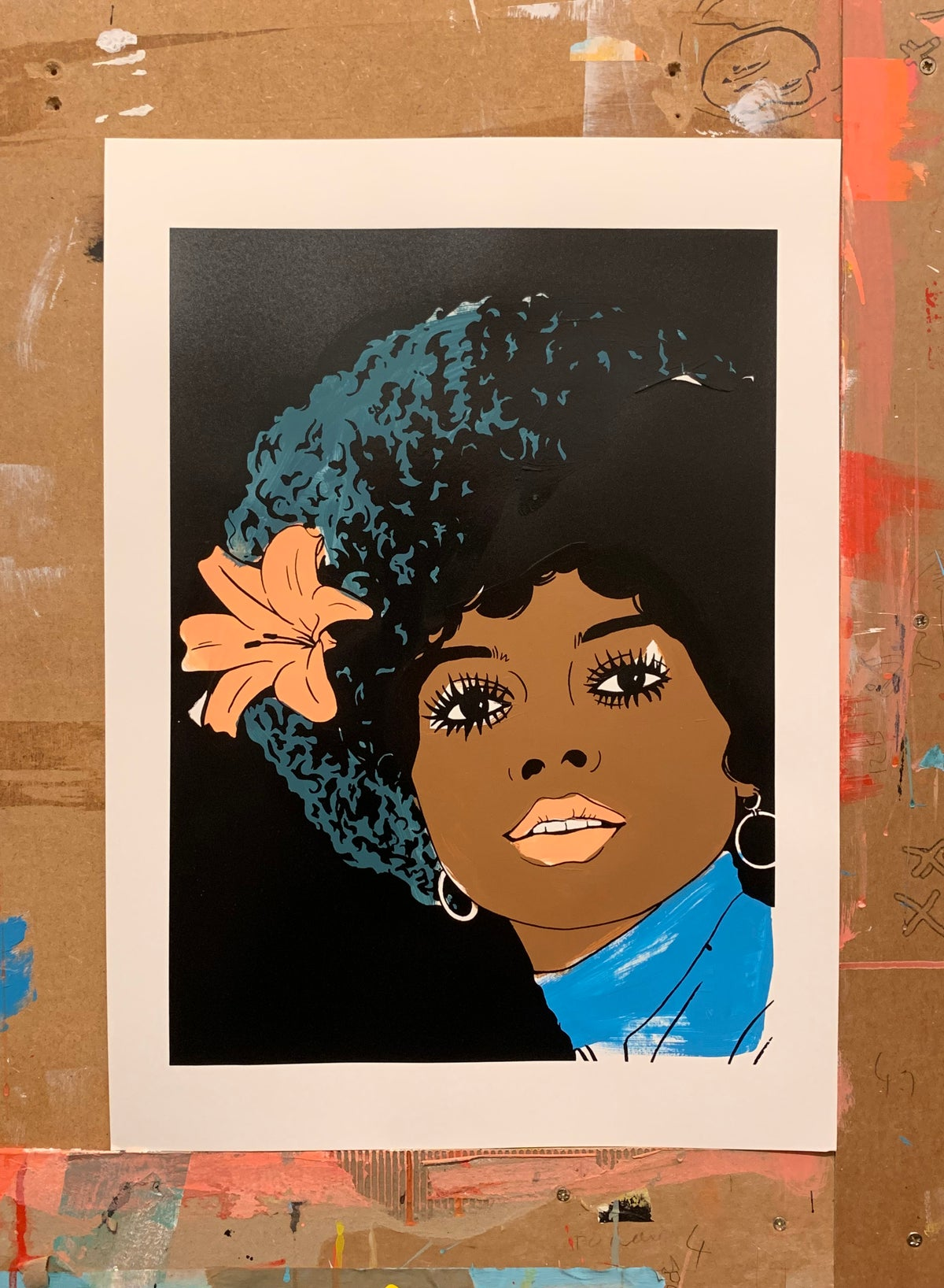 Image of Diana Ross Blue