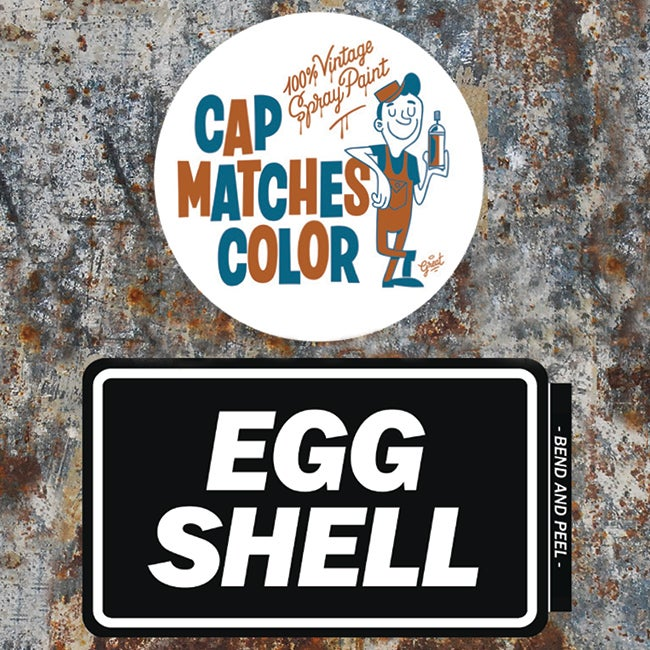Image of CMC x EGGSHELL Vintage Blank Stickers (24 pack)
