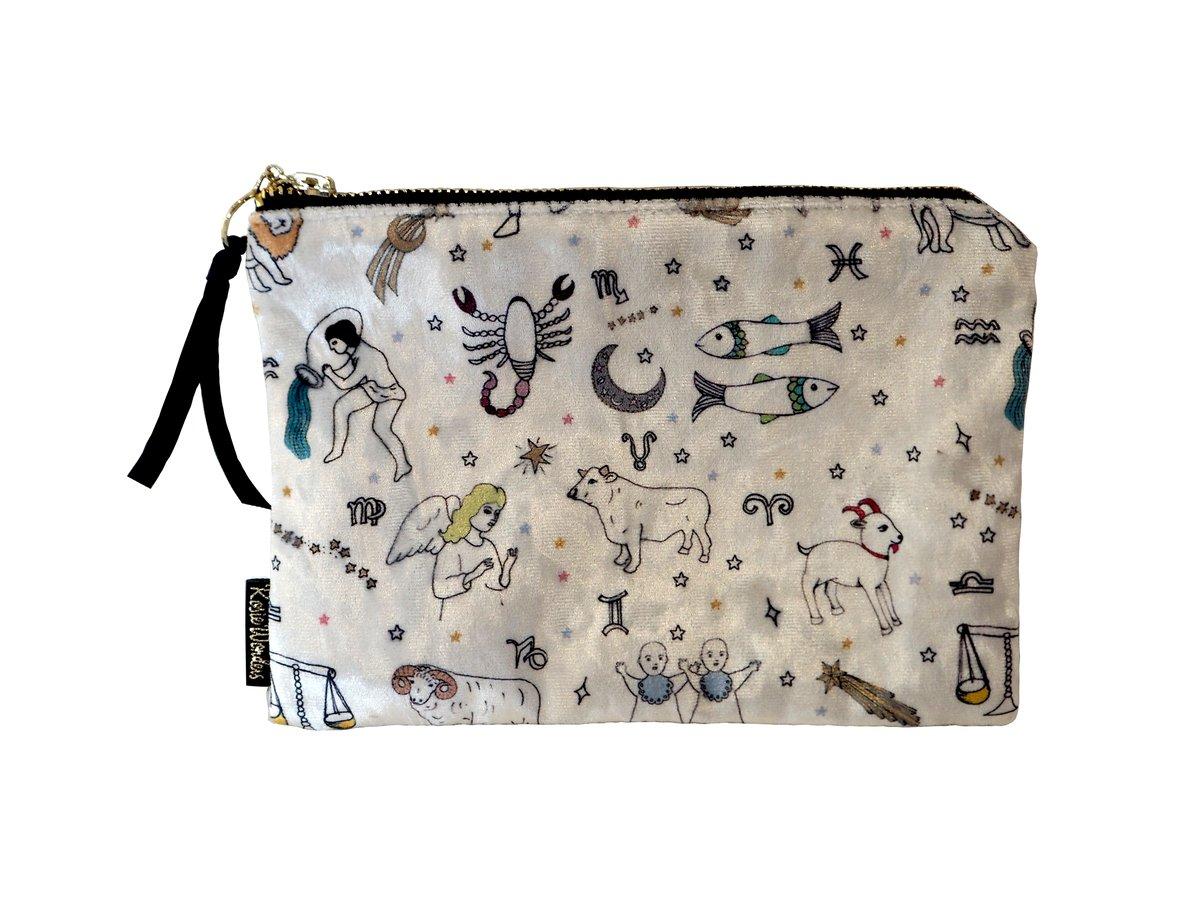 Zodiac Velvet Zip Bag