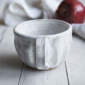 Image of Rustic White Speckled Mug in Modern Matte Glaze (C), Handcrafted Pottery Coffee Cup, Made in USA