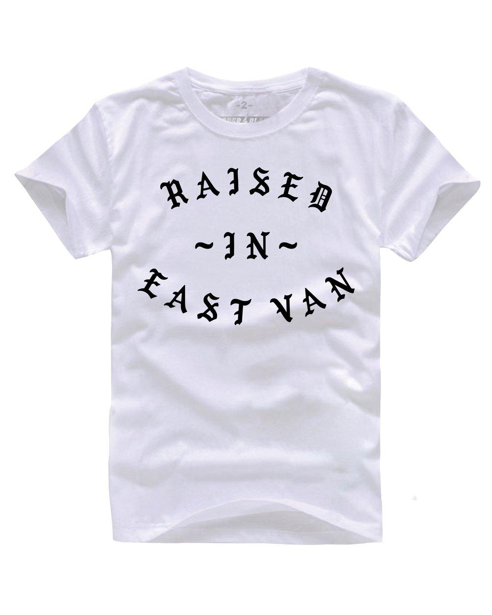 RAISED IN EAST VAN TEE WHITE