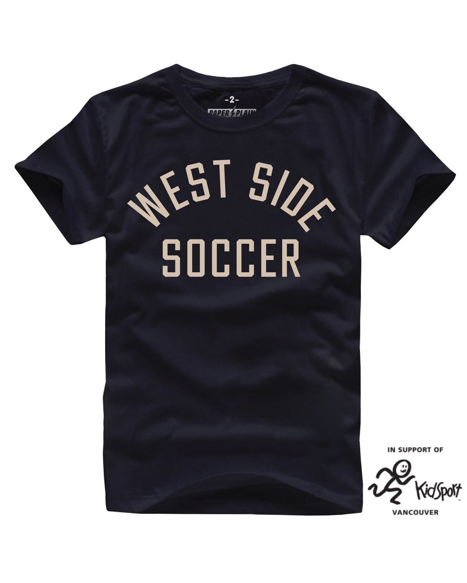 WEST SIDE SOCCER TEE BLACK (KIDSPORT COLLAB)