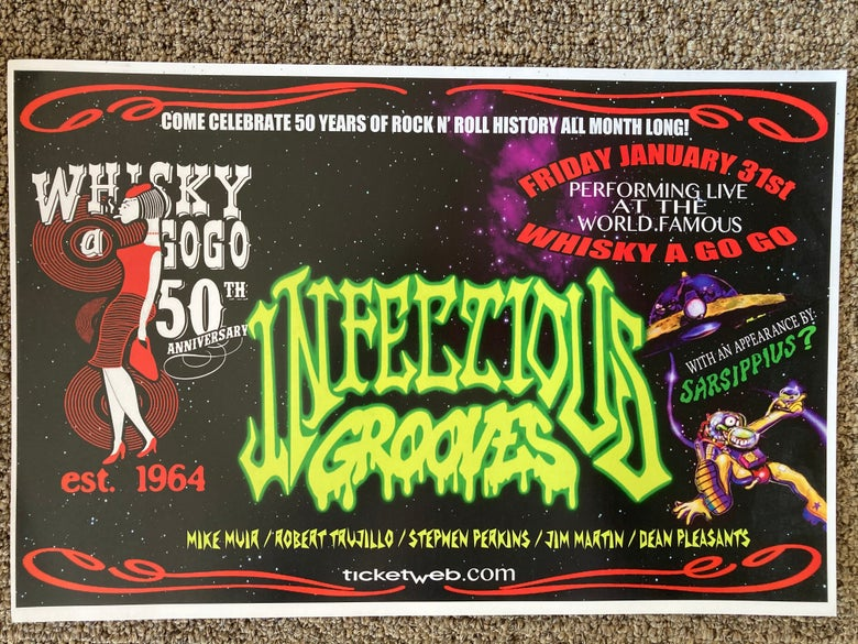 Image of Infectious Grooves promo Whisky-A-Go-Go Hollywood Sunset Strip